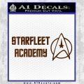 Starfleet Academy Decal Sticker Brown Vinyl 120x120