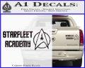 Starfleet Academy Decal Sticker Carbon Fiber Black 120x97