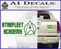 Starfleet Academy Decal Sticker Green Vinyl 120x97