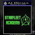 Starfleet Academy Decal Sticker Lime Green Vinyl 120x120