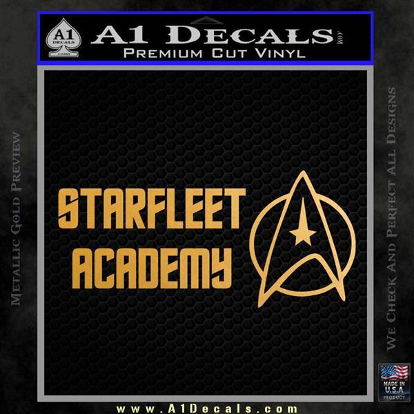 Starfleet Academy Decal Sticker Metallic Gold Vinyl Vinyl