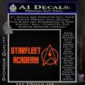 Starfleet Academy Decal Sticker Orange Vinyl Emblem 120x120