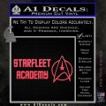 Starfleet Academy Decal Sticker Pink Vinyl Emblem 120x120