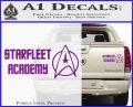 Starfleet Academy Decal Sticker Purple Vinyl 120x97