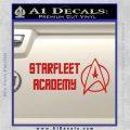 Starfleet Academy Decal Sticker Red Vinyl 120x120