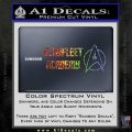 Starfleet Academy Decal Sticker Sparkle Glitter Vinyl 120x120