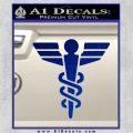 Starfleet Medical Caduceus Symbol Decal Sticker Blue Vinyl 120x120