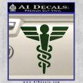 Starfleet Medical Caduceus Symbol Decal Sticker Dark Green Vinyl 120x120