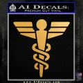Starfleet Medical Caduceus Symbol Decal Sticker Metallic Gold Vinyl 120x120