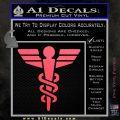 Starfleet Medical Caduceus Symbol Decal Sticker Pink Vinyl Emblem 120x120