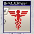 Starfleet Medical Caduceus Symbol Decal Sticker Red Vinyl 120x120