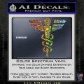 Starfleet Medical Caduceus Symbol Decal Sticker Sparkle Glitter Vinyl 120x120