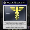 Starfleet Medical Caduceus Symbol Decal Sticker Yelllow Vinyl 120x120