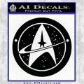 Starfleet Star Trek Emblem Decal Sticker Black Logo Emblem 120x120