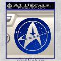Starfleet Star Trek Emblem Decal Sticker Blue Vinyl 120x120
