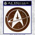 Starfleet Star Trek Emblem Decal Sticker Brown Vinyl 120x120