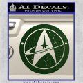 Starfleet Star Trek Emblem Decal Sticker Dark Green Vinyl 120x120