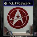 Starfleet Star Trek Emblem Decal Sticker Dark Red Vinyl 120x120