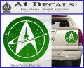 Starfleet Star Trek Emblem Decal Sticker Green Vinyl 120x97