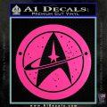 Starfleet Star Trek Emblem Decal Sticker Hot Pink Vinyl 120x120