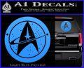 Starfleet Star Trek Emblem Decal Sticker Light Blue Vinyl 120x97
