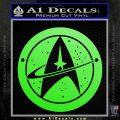 Starfleet Star Trek Emblem Decal Sticker Lime Green Vinyl 120x120