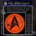 Starfleet Star Trek Emblem Decal Sticker Orange Vinyl Emblem 120x120