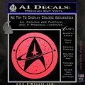 Starfleet Star Trek Emblem Decal Sticker Pink Vinyl Emblem 120x120