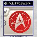 Starfleet Star Trek Emblem Decal Sticker Red Vinyl 120x120