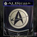 Starfleet Star Trek Emblem Decal Sticker Silver Vinyl 120x120