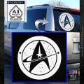 Starfleet Star Trek Emblem Decal Sticker White Emblem 120x120