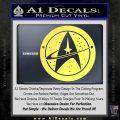 Starfleet Star Trek Emblem Decal Sticker Yelllow Vinyl 120x120