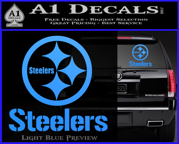 Steelers full decal sticker light blue vinyl 120x97