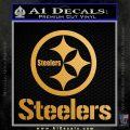 Steelers Full Decal Sticker Metallic Gold Vinyl Vinyl 120x120