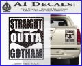 Straight Outta Gotham Decal Sticker DZA Carbon Fiber Black 120x97