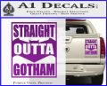Straight Outta Gotham Decal Sticker DZA Purple Vinyl 120x97