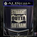 Straight Outta Gotham Decal Sticker DZA Silver Vinyl 120x120