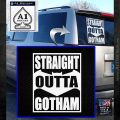 Straight Outta Gotham Decal Sticker DZA White Emblem 120x120