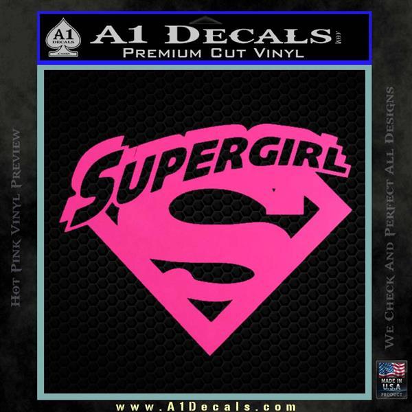 Supergirl Logo Decal Sticker 187 A1 Decals