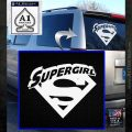 Supergirl Logo Decal Sticker White Emblem 120x120