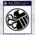 Superhero Mashup Hydra Shield Decal Sticker Black Logo Emblem 120x120