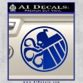 Superhero Mashup Hydra Shield Decal Sticker Blue Vinyl 120x120
