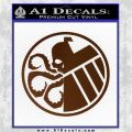 Superhero Mashup Hydra Shield Decal Sticker Brown Vinyl 120x120