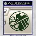 Superhero Mashup Hydra Shield Decal Sticker Dark Green Vinyl 120x120