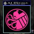 Superhero Mashup Hydra Shield Decal Sticker Hot Pink Vinyl 120x120