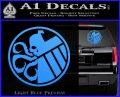 Superhero Mashup Hydra Shield Decal Sticker Light Blue Vinyl 120x97