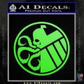 Superhero Mashup Hydra Shield Decal Sticker Lime Green Vinyl 120x120