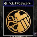 Superhero Mashup Hydra Shield Decal Sticker Metallic Gold Vinyl Vinyl 120x120