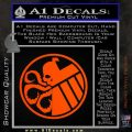 Superhero Mashup Hydra Shield Decal Sticker Orange Vinyl Emblem 120x120