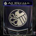 Superhero Mashup Hydra Shield Decal Sticker Silver Vinyl 120x120